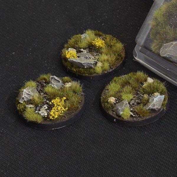 GamersGrass Highland Bases Round 50mm x3