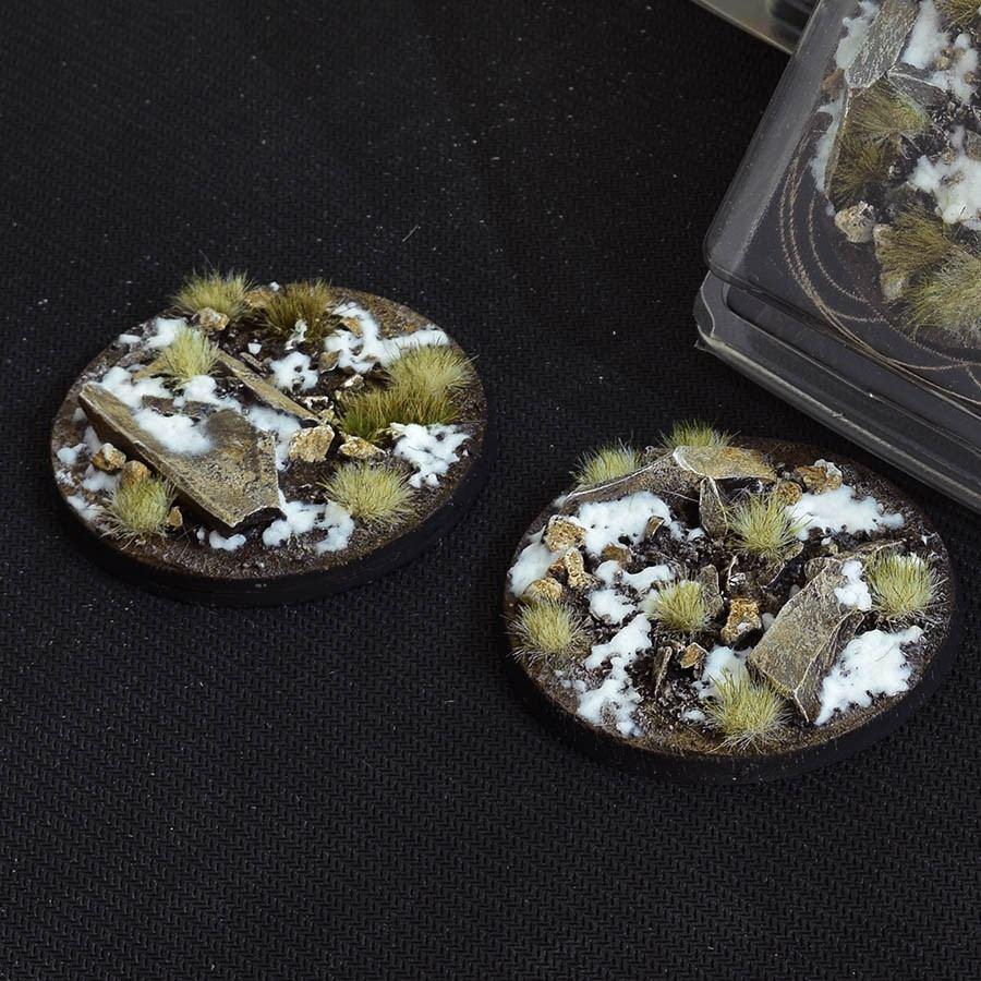 GamersGrass Winter Bases Round 60mm x2