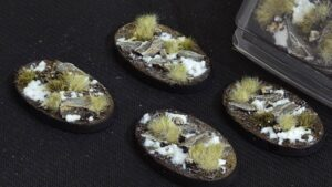 GamersGrass Winter Bases Oval 60mm x4
