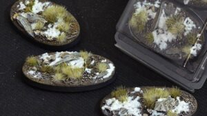 GamersGrass Winter Bases Oval 75mm x3