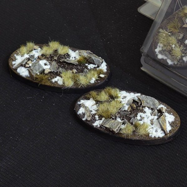 GamersGrass Winter Bases Oval 90mm x2