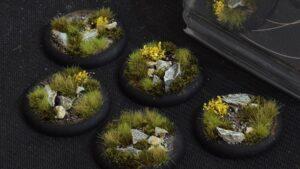 GamersGrass Highland Bases Round Lip 40mm x5