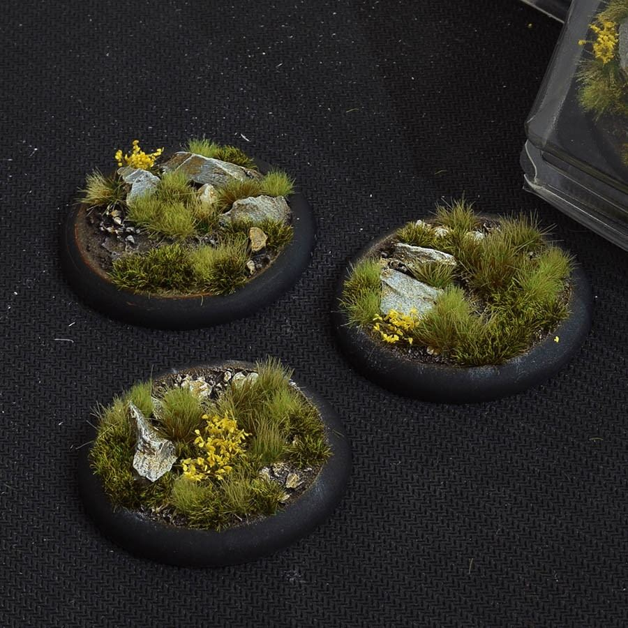 GamersGrass Highland Bases Round Lip 50mm x3