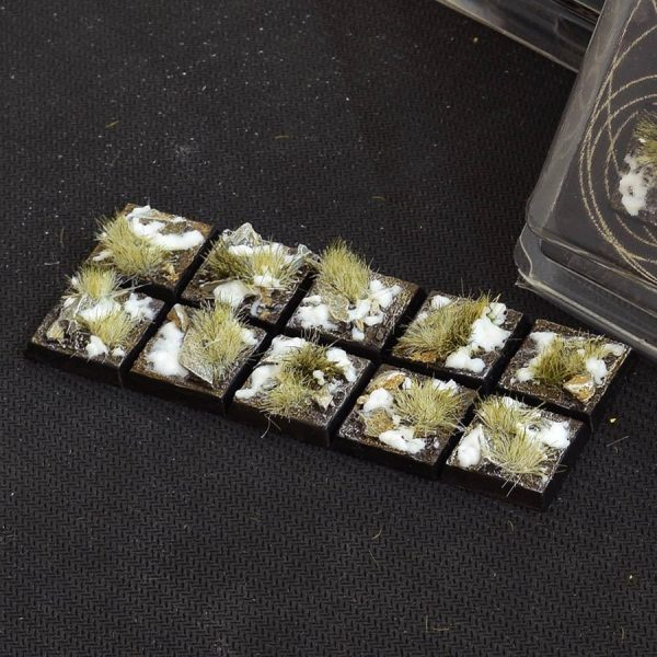 GamersGrass Winter Bases Square 20mm x10