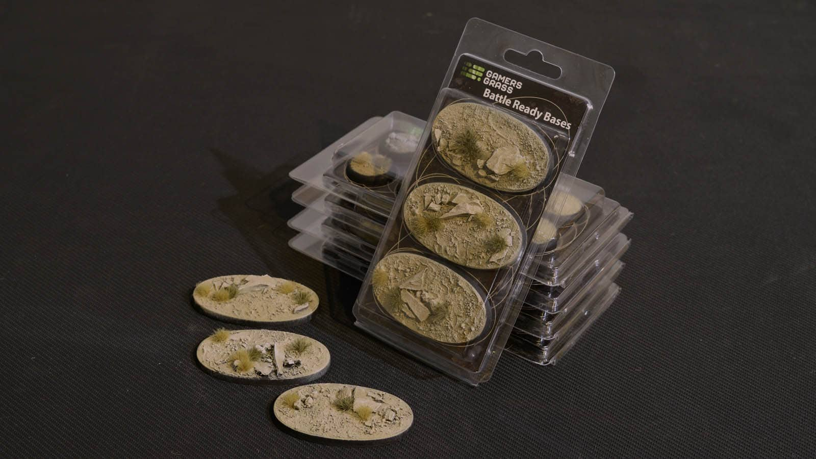 GamersGrass Arid Steppe Bases Oval 75mm x3