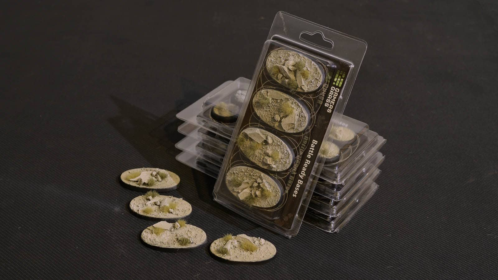 GamersGrass Arid Steppe Bases Oval 60mm x4