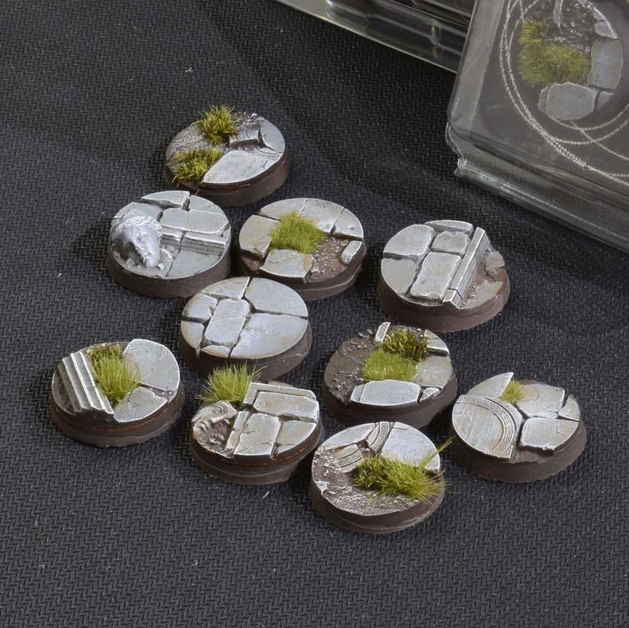 GamersGrass Temple Bases Round 25mm x10