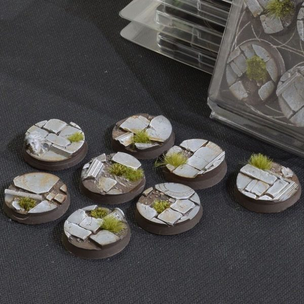 GamersGrass Temple Bases Round 32mm x8
