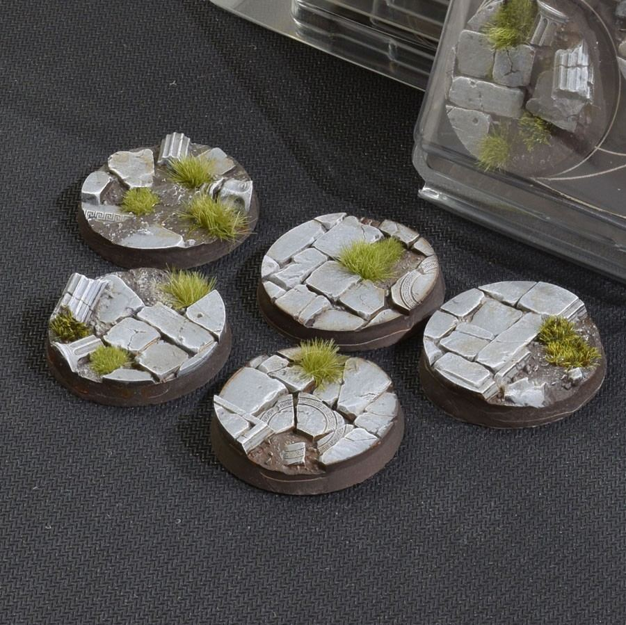 GamersGrass Temple Bases Round 40mm x5