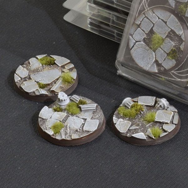GamersGrass Temple Bases Round 50mm x3